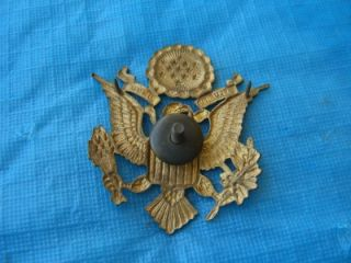 WW2 WW1 U s Army Gold Eagle Shield Hat Cap Pin