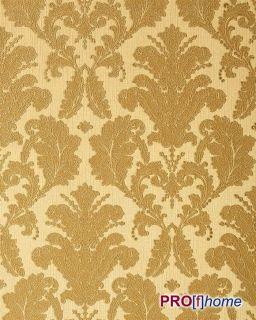 32 Vinyl Wallpaper Luxury Heavyweight Baroque Damask Beige Gold