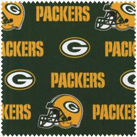 Green Bay Packers NFL Football Green Cotton Fabric by The 1 2 Yard
