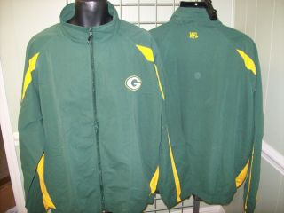 Green Bay Packers Green NFL Apparel Full Zip Jacket Sz 3XL