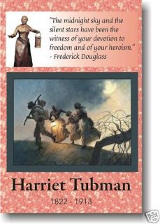 harriet tubman black history african american poster