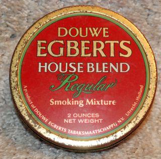 Douwe Egberts Regular Round 2 oz Tobacco Tin Holland