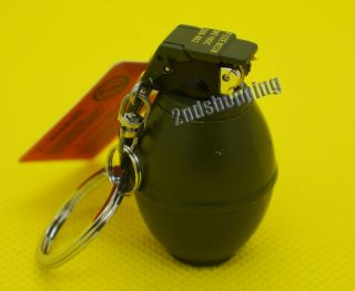 New Mini Green Hand Grenade Cigarette Flint Butane Lighter