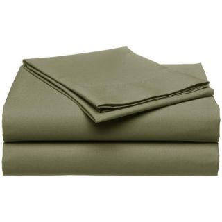 PC Luxury Sage Green Queen Sheet Set Flat Fitted Pillows New 1300TC