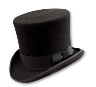 Top Hat Black Wool Rock Star GNR Slash Mad Hatter Caroler Weddings