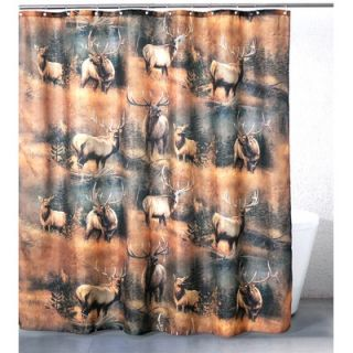 Casa Bella by Fine Art Creations Elk Meadow Shower Curtain   2011