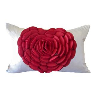 Debage Inc. Heart Pillow in Red / Cream   W 2008