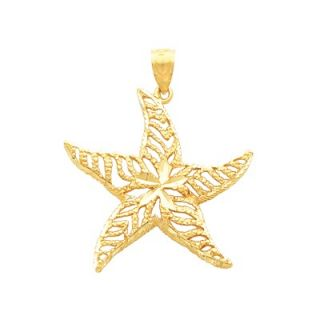 Jewelryweb 14k Yellow Gold Cross Pendant23x16mm   TLP136601NC
