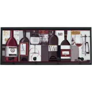 Designs Wine Bottles Wall Art with Pegs   10.25 x 25   PLK 1127 BK