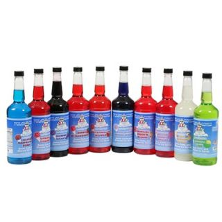 Great Northern Popcorn 10 Flavor Combo Pack Snow Cone Shaved Ice Syrup