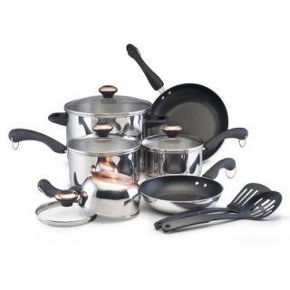 Paula Deen Signature Stainless Steel 12 Piece Cookware Set