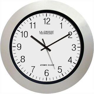La Crosse Technology 14 Atomic Wall Clock in White Pearl   WT 3144P