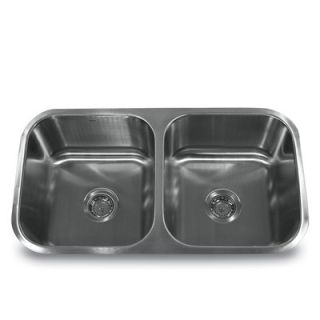Nantucket Sinks 16 Gauge Double Bowl 50/50 Undermount Kitchen Sink in