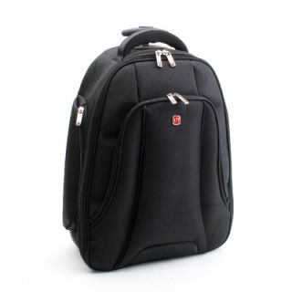 Merax Fly Over Rolling 15.4 Laptop Backpack in Black