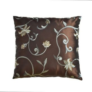 Softline Home Fashions Athena 18 Pillow in Chocolate / French Blue