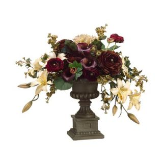 Tori Home 21 Calla Lily, Hydrangea and Lily Floral Arrangement with