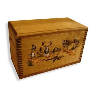 Evans Sports Wooden Accessory Box With Wildlife Series Collage Print