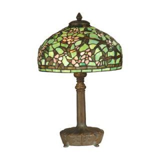 Dale Tiffany 19 Two Light Table Lamp in Dark Antique Bronze Verde