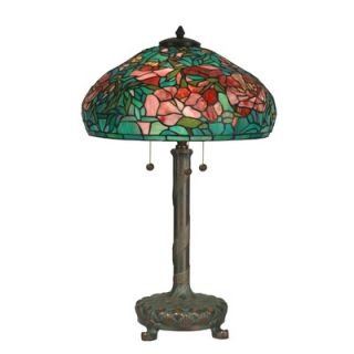 dale tiffany 27 three light table lamp with art glass shade in. Black Bedroom Furniture Sets. Home Design Ideas