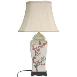 Oriental Furniture 26 Inch Cherry Blossom Vase Lamp   JCO X5825 6019