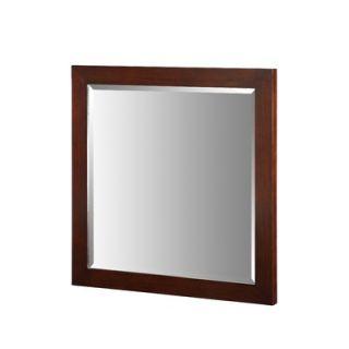Xylem Essence 30 x 30 Mirror in Dark Walnut   M ESSENCE 30DW