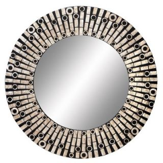 Aspire 31 Capiz Shell Round Wall Mirror