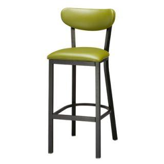 Regal Steel Upholstered Seat and Back Metal 30 Barstool