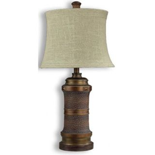 Warehouse of Tiffany Turtle Back Table Lamp in Bronze   ZLB35+PS136G
