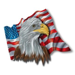 The Patriotic Eagle Contemporary Wall Art   22 x 37.5   NOR00008