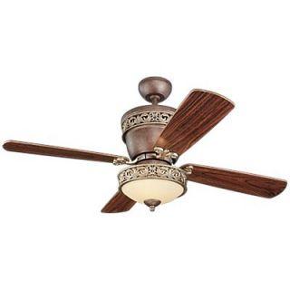 Monte Carlo Fan Company 42 or 28 Villager 4 Blade Ceiling Fan