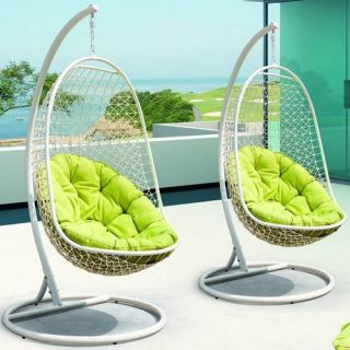 Home Loft Concept Egg Shaped Outdoor Swing Deep Seating Chair