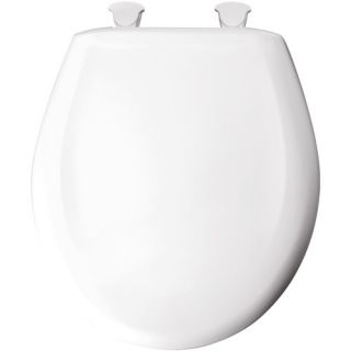 Elongated Solid Plastic Toilet Seat Whisper Close with Easy Clean and