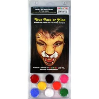 SnazarooUSA Face Paint and 56 Page How To Booklet, Your Face Or Mine