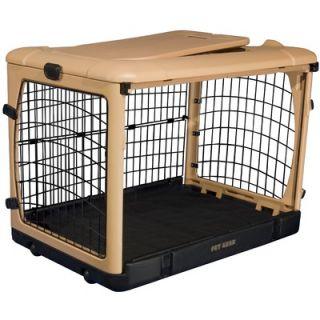 Pet Gear Deluxe Steel Dog Crate in Tan