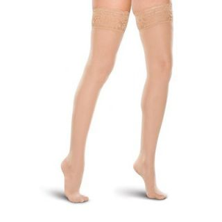 Therafirm Moderate Support Lace Top Thigh High Stockings