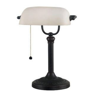Kenroy Home Amherst Bankers Lamp in Oil Rubbed Bronze Finish