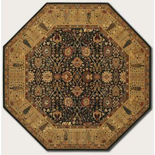 Couristan Royal Kashimar Cypress Garden Black Rug   0621 2596 OCT