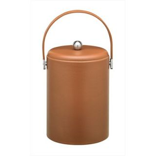 Kraftware Soho 5 Qt Leatherette Ice Bucket in Saddle