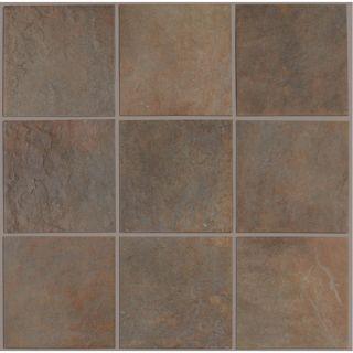 Shaw Floors African Slate 13 Porcelain Tile in Rust   CS65A 00600