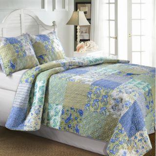 Greenland Home Fashions Antique Rose Bonus Quilt Set   GL WB0726x