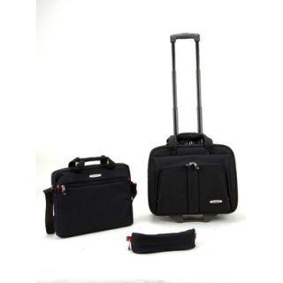Rockland 3 Piece Rolling Laptop Case
