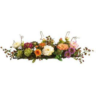 Mixed Peony Centerpiece Silk Flower Arrangement