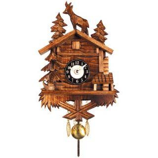 Black Forest Battery Operated Clock with Standing Deer