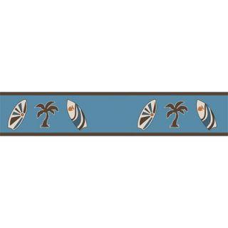 Sweet Jojo Designs Blue Surf Wallpaper Border   Border Surf BU