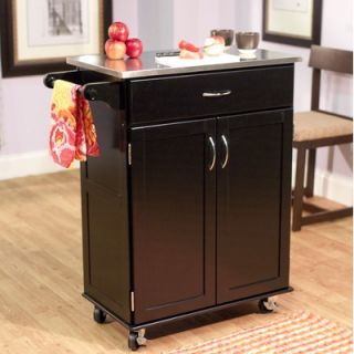Home Styles Kitchen Cart Stainless Steel Top   5086 95
