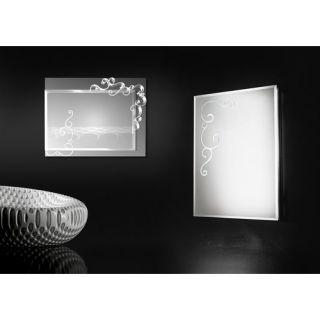 Curly Rectangular Mirror Wall Lamp