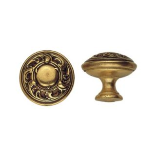 Bosetti Marella Brass 0.98 Round Knob in French Antique Gold