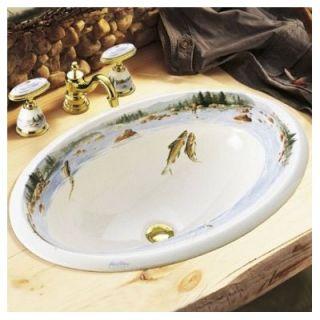 Fly Design on Centerpiece Self Rimming Bathroom Sink   K 14274 RF 96