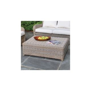 Crosley Palm Harbor Outdoor Wicker Glass Top Coffee Table   CO7201