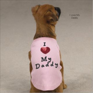 Casual Canine I Love My Daddy Dog Tank